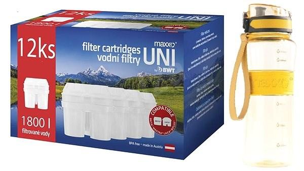 Maxxo UNI filtry 12ks + sportovní láhev - Filtrační patrona