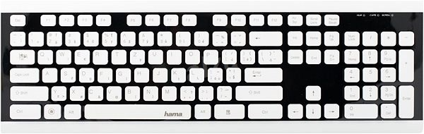 Hama Covo černá/bílá CZ+SK - Klávesnice