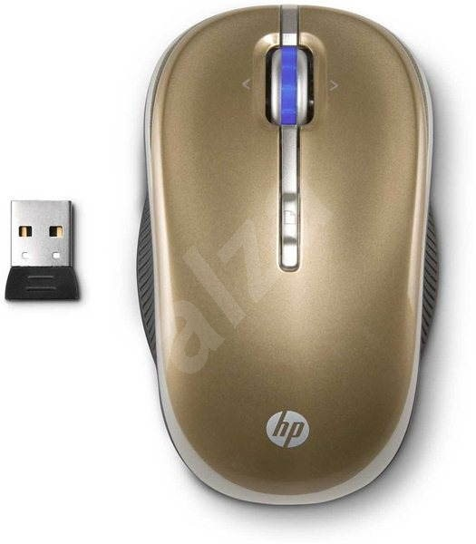 HP 2.4GHz Wireless Optical Mobile Mouse Gold - Myš