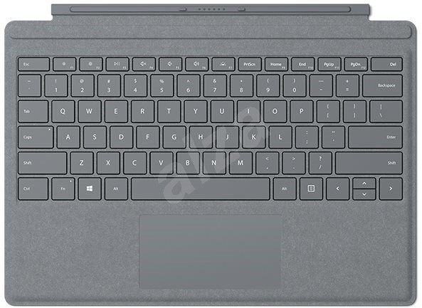 Microsoft Surface Pro Type Cover Platinum ENG - Klávesnice