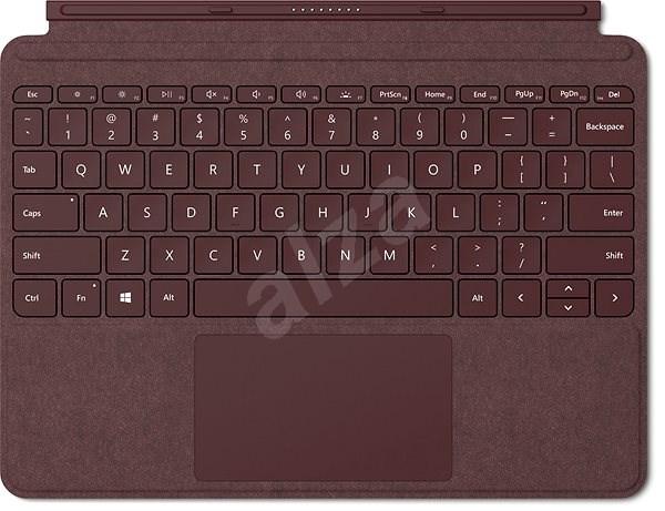 Microsoft Surface Go Type Cover Burgundy CZ/SK - Klávesnice