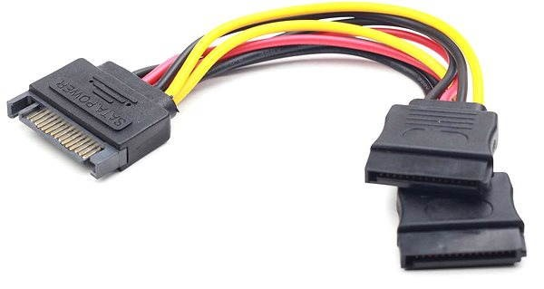 Gembird Cableexpert SATA napájecí na 2x SATA, rozdvojka, 0.15m - Napájecí kabel