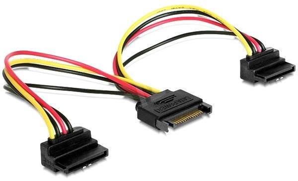 Gembird Cableexpert SATA napájecí na 2x SATA 90°, rozdvojka, 0.15m - Napájecí kabel