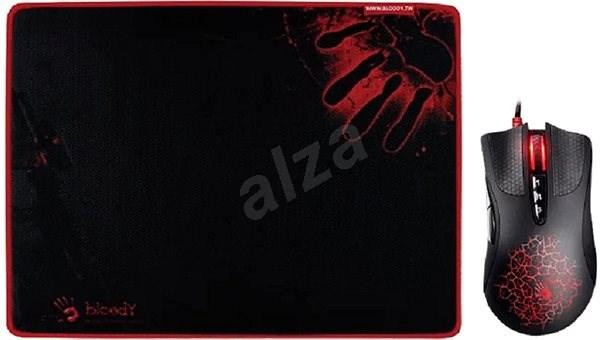 A4tech BLOODY A9081A - A90A Core 3 + podložka B-081 - Herní myš