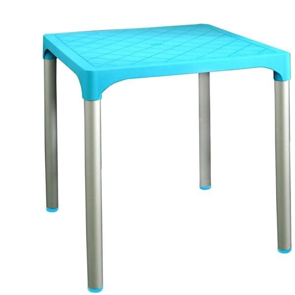 MEGAPLAST VIVA 72x72x72 cm, AL nohy, tyrkysový - Zahradní stůl
