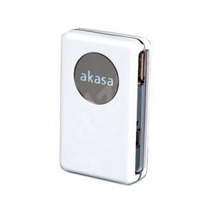 Externí hub AKASA AK-HB-01WH, 4 porty USB 2.0, bílý (white) - USB Hub