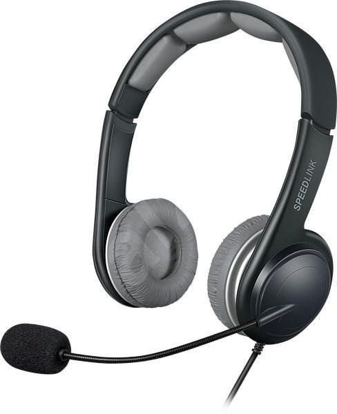 SPEED LINK Sonid black-grey - Sluchátka s mikrofonem