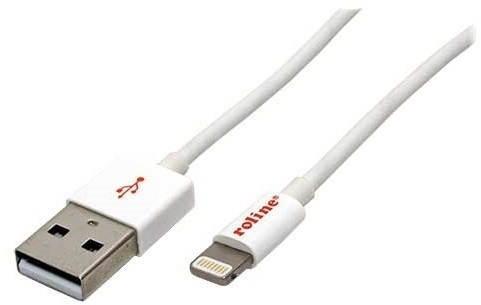 ROLINE USB kabel Lightning 1m bílý - Datový kabel
