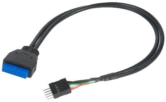 AKASA USB 3.0 (19-pin) na USB 2.0 (9-pin) - Redukce