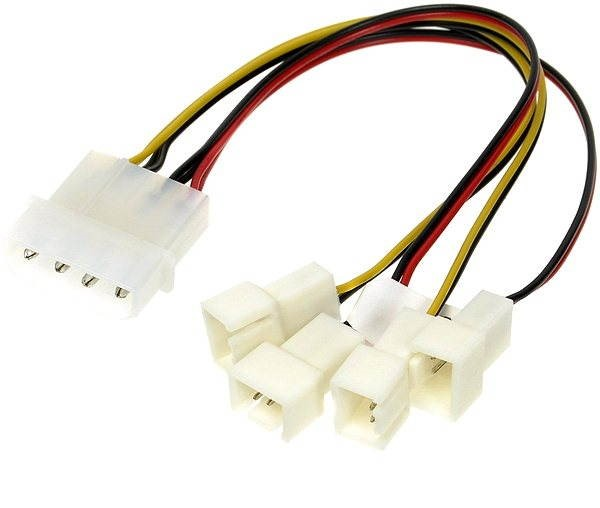 AKASA 4-pin PSU molex - Napájecí redukce