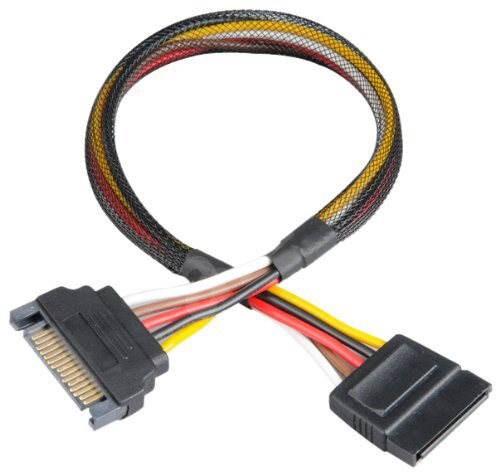 AKASA SATA Power Cable Extension - Napájecí redukce