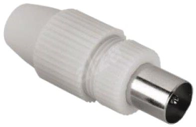Hama coaxial (M) - straight, with screws - Adapter