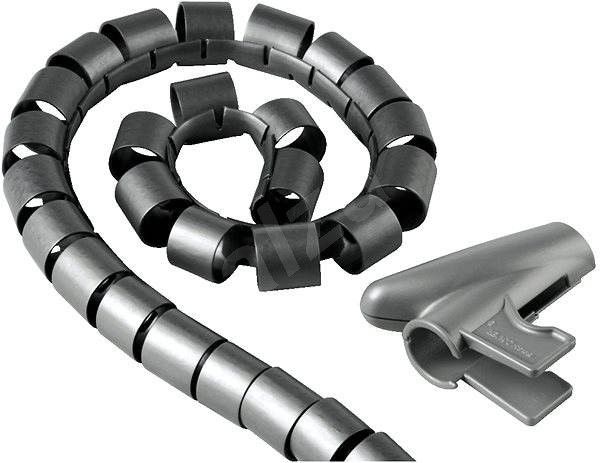 Trubice pro vedení kabelů 1.5m stříbrná - Organizér kabelů