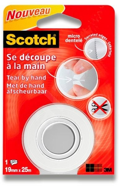 25M Scotch 19 mm × 25 m, odtržitelná rukou - Lepicí páska