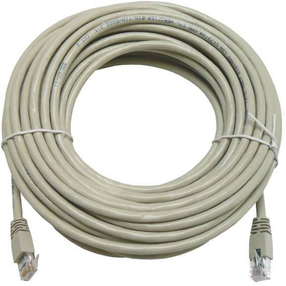Datacom CAT6, UTP, 15m šedý - Síťový kabel