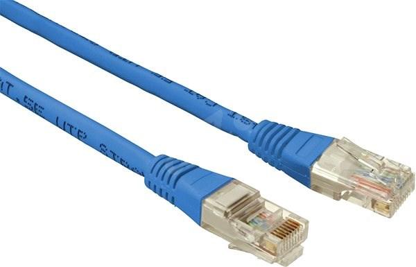 Datacom CAT5E UTP 1.5m modrý - Síťový kabel
