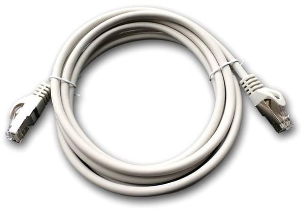 Datacom Patch cord S/FTP CAT6A 2m šedý - Síťový kabel