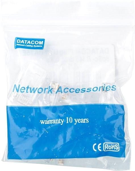 Datacom 10-pack RJ45, CAT5E, UTP, 8p8c, na drát - Konektor