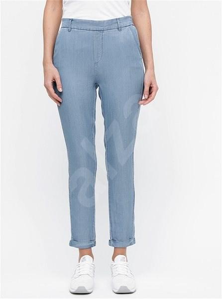 VERO MODA Modré zkrácené kalhoty s vysokým pasem Maya XS  - Kalhoty