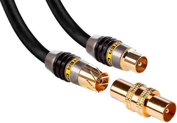 MONSTER Koaxiální kabel Quad 5m - Anténní kabel