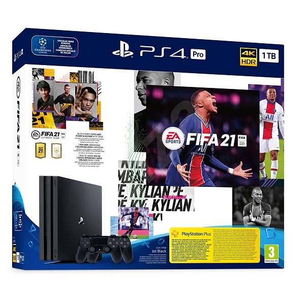 PlayStation 4 Pro 1TB + FIFA 21 + 2x DualShock 4 - Herní konzole