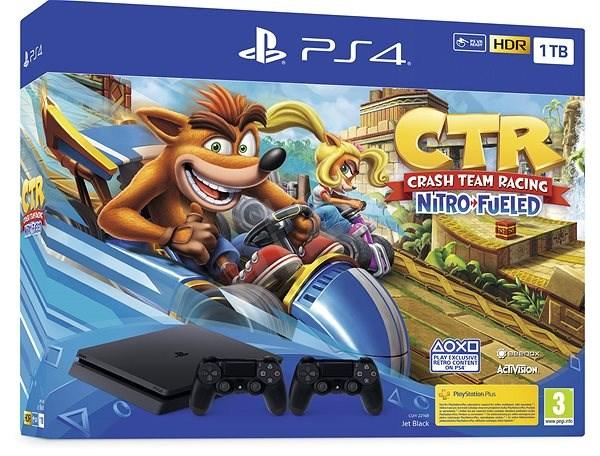 PlayStation 4 Slim 1TB + Crash Team Racing + 2x ovladač - Herní konzole
