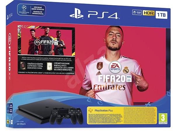 PlayStation 4 Slim 1TB + FIFA 20 + 2x DS4 ovladač - Herní konzole