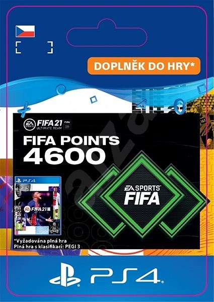 FIFA 21 ULTIMATE TEAM 4600 POINTS - PS4 CZ Digital - Gaming Accessory