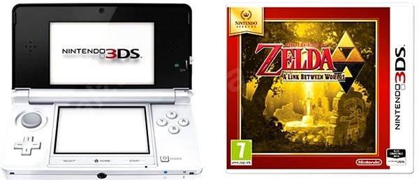 Nintendo 3DS White + The Legend of Zelda A Link Between Worlds - Herní konzole