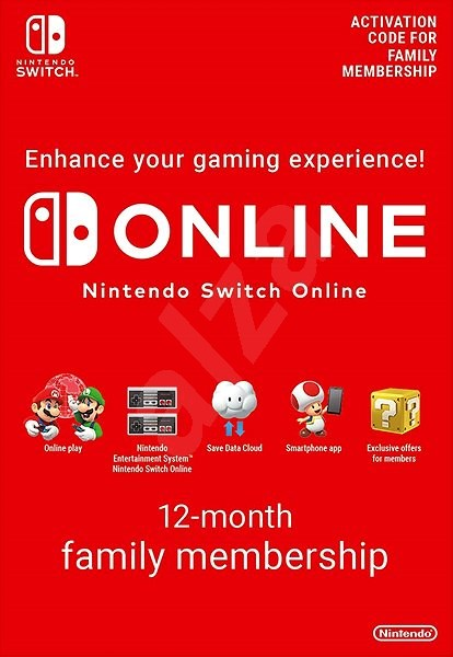 365 Days  Online Membership (Family) - Nintendo Switch Digital - Dobíjecí karta