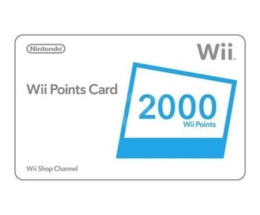 Nintendo Wii Points Card 2000 - Bodová karta