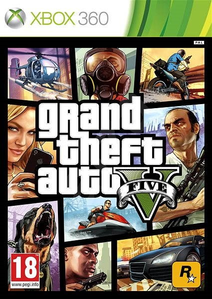 Grand Theft Auto V (GTA 5) -  Xbox 360 - Hra na konzoli