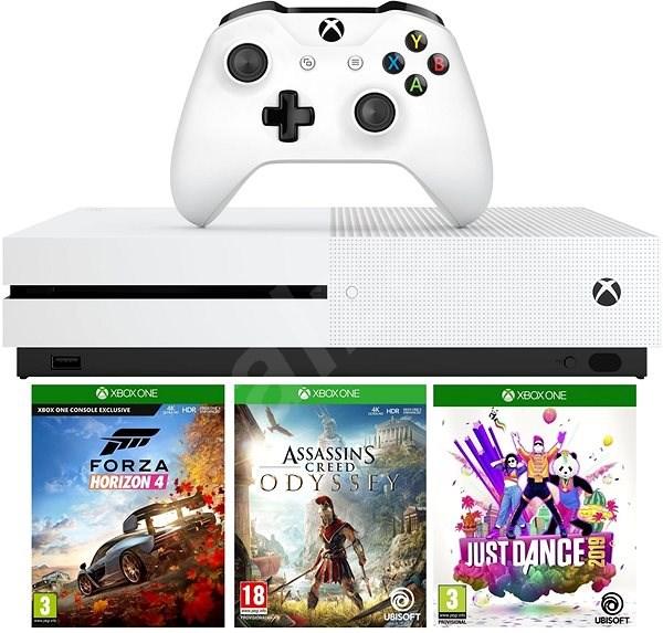 Xbox One S 1TB + Forza Horizon 4 + Assassins Creed Odyssey + Just Dance 2019 - Herní konzole
