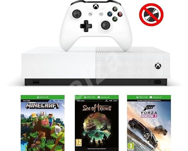Xbox One S 1TB All-Digital Edition - Herní konzole