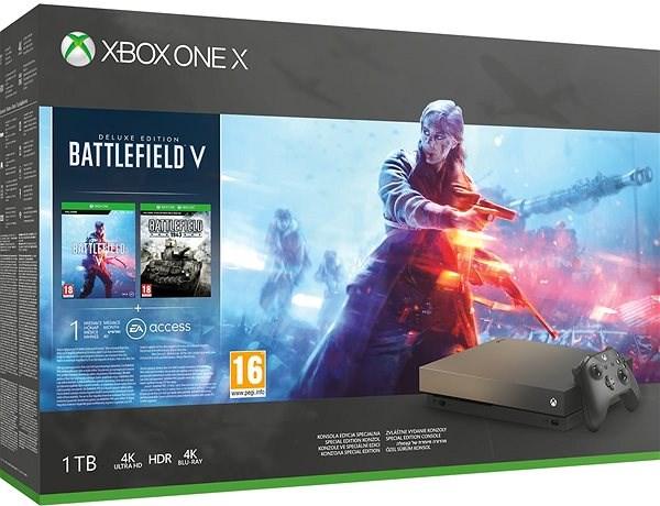 Xbox One X Battlefield V Gold Rush Special Edition - Herní konzole