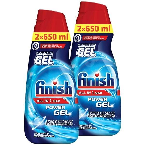 FINISH Gel All-in-1 Shine&Protect 2x 650 ml (52 dávek) - Gel do myčky