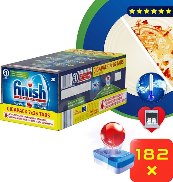FINISH All-in-1 Gigabox 182 ks - Tablety do myčky