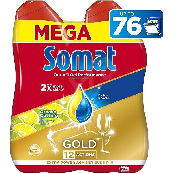 SOMAT Gold Grease Cutting Lemon & Lime 2× 684 ml (76 dávek) - Gel do myčky