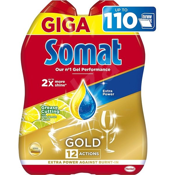 SOMAT All in One Gel Lemon 2× 990 ml (110 dávek) - Gel do myčky