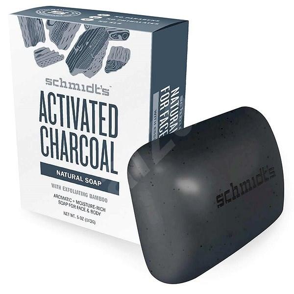 SCHMIDT'S Aktivní uhlí + hořčík 142 g - Tuhé mýdlo