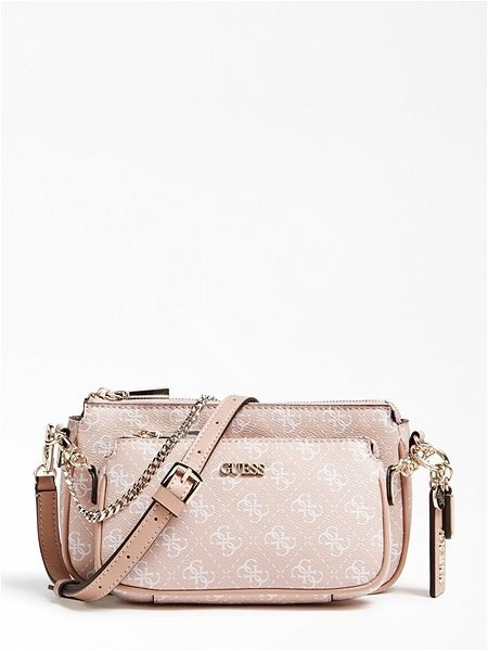 GUESS Arie Crossbody 4g Logo All Over - Rose - Kabelka
