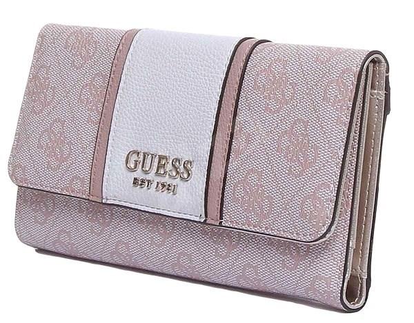 GUESS Cathleen Logo Wallet- Blush - Peněženka