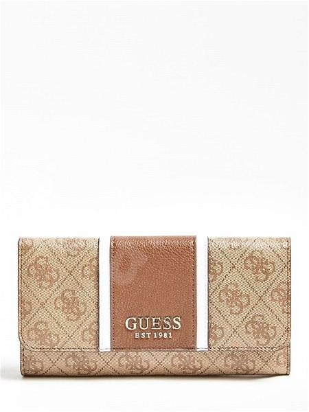GUESS Cathleen Logo Wallet- Brown - Peněženka