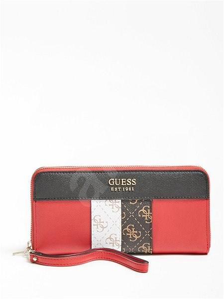 GUESS Katey 4g Logo Maxi Wallet - Red Multi - Peněženka