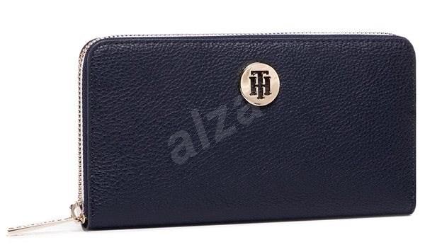 TOMMY HILFIGER The Core Large Zip-Around Wallet AW0AW08489 Navy Blue - Peněženka
