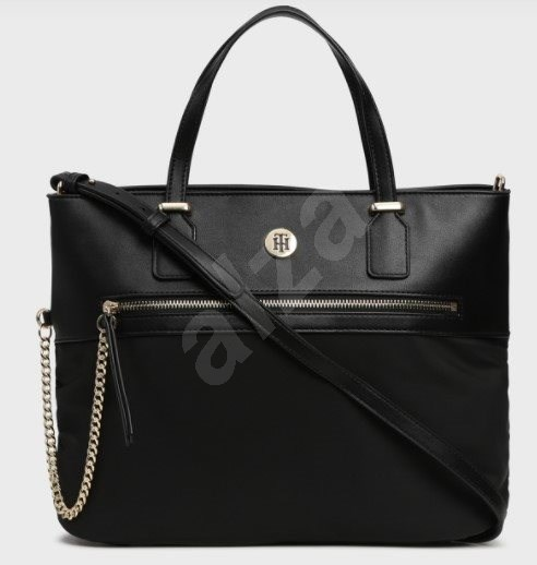 TOMMY HILFIGER Core Nylon Large Tote AW0AW06825 Black - Kabelka
