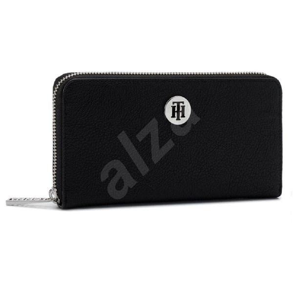 TOMMY HILFIGER The Core Zip-Around Wallet AW0AW06847 Black - Peněženka