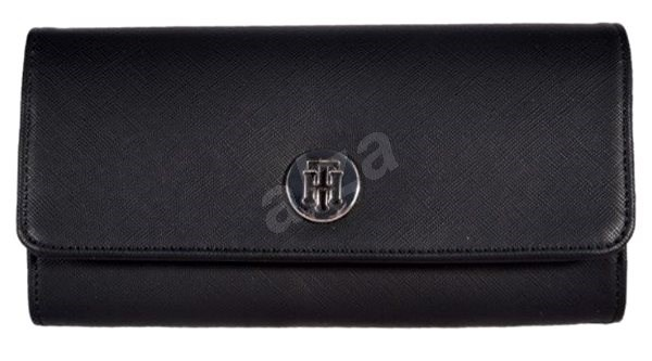 TOMMY HILFIGER The Core Large Flap Wallet AW0AW07114 Black - Wallet