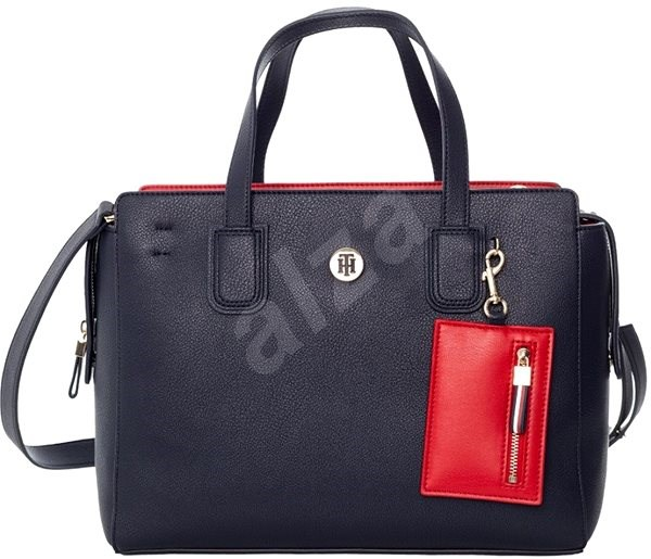 TOMMY HILFIGER Charming Tommy Satchel AW0AW07311 Navy Blue - Kabelka