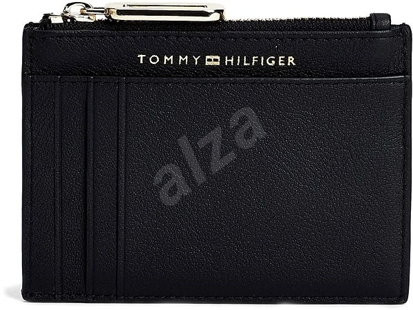 TOMMY HILFIGER Soft Turnlock Credit Card Holder AW0AW08029 Black - Wallet